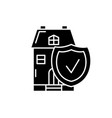 real estate insurance black icon sign on vector image vector image