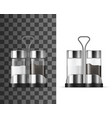 salt and pepper shakers with kitchen spices vector image