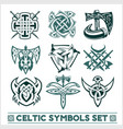 set of celtic symbols icons vector image vector image
