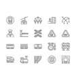 set train and railways line icons funicular vector image