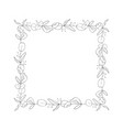 square floral graphic frame vector image vector image