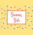 summer sale banner with seagulls pattern vector image vector image