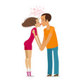 together forever couple in love kissing holding vector image vector image
