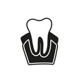 tooth icon on white background vector image vector image