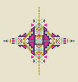 tribal element in aztec stile design vector image