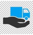 Van Delivery Service Hand Eps Icon vector image vector image