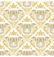 vintage seamless pattern of repeating pig muzzle vector image