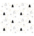 white seamless pattern with black christmas trees vector image vector image