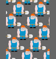 worker with shovel seamless pattern road workman vector image