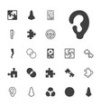 22 part icons vector image vector image