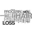 a hair loss cure for men text word cloud concept vector image vector image
