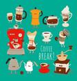 alternative coffee brewing methods vector image