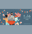 america independence day bbq invitation banner vector image vector image