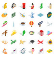 baggage icons set isometric style vector image vector image
