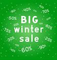 big christmas discounts winter sales background vector image