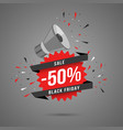 black friday sale web banner template shopping vector image vector image