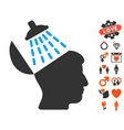 brain washing icon with valentine bonus vector image vector image