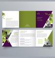 brochure design 720 vector image vector image