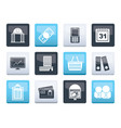 business and finance icons over color background vector image vector image