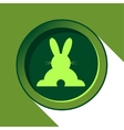 button with light green back Easter bunny and vector image vector image