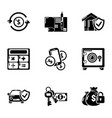 capital investment icons set simple style vector image vector image