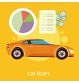 Car loan approved vector image vector image