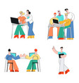 coworking communication set in vector image vector image