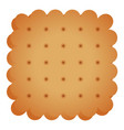 cracker cookie icon cartoon style vector image vector image