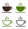 cup coffee tea hot drink simple icon set vector image vector image
