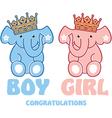 cute baelephants vector image