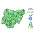 eco green collage nigeria map vector image vector image