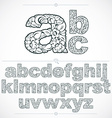 Ecology style flowery font typeset made using vector image vector image