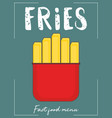 french fry stick potato vector image vector image