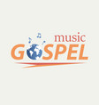 gospel music in world vector image vector image