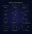 hand drawn gold zodiac constellations set 12 vector image