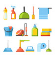 household and housekeeping equipment cleaning vector image vector image