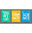 Infographics of start up science finance vector image vector image