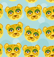 Leopard Seamless pattern with funny cute animal vector image vector image