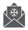 letter to santa glyph icon envelope and christmas vector image