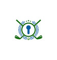 lock golf logo icon design vector image