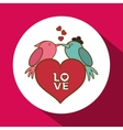 Love with bird design vector image vector image
