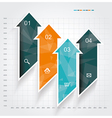 modern design template infographic from arrows vector image vector image