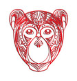 monkey with a carved pattern for your cre vector image vector image
