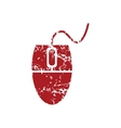 Mouse controller red grunge icon vector image vector image