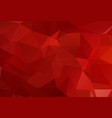 multi red polygonal mosaic background geometric vector image vector image