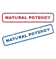 Natural Potency Rubber Stamps vector image vector image
