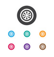 of mixed symbol on wheel icon vector image