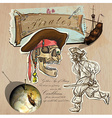Pirates - Golden Age Hand drawn and Mixed media vector image
