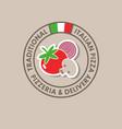 pizzeria logo italian cuisine flag vector image