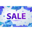 promo sale poster banner eometric facet vector image